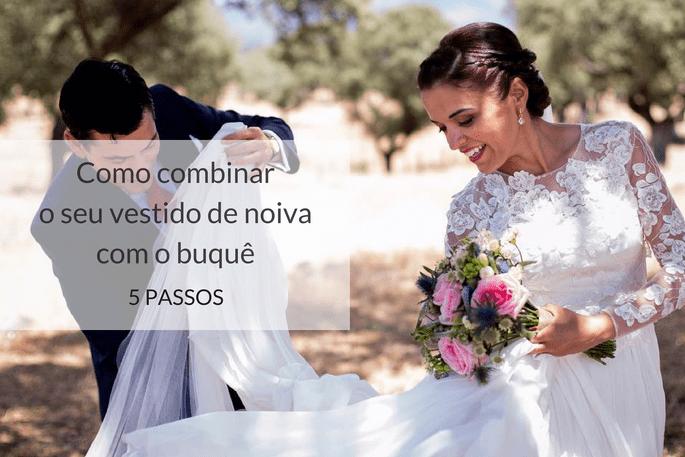 Como combinar seu vestido de noiva como buquê de flores