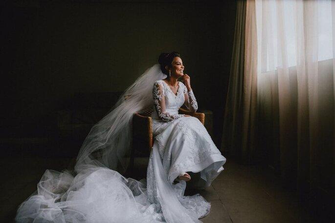 Noiva pronta para seu grande dia
