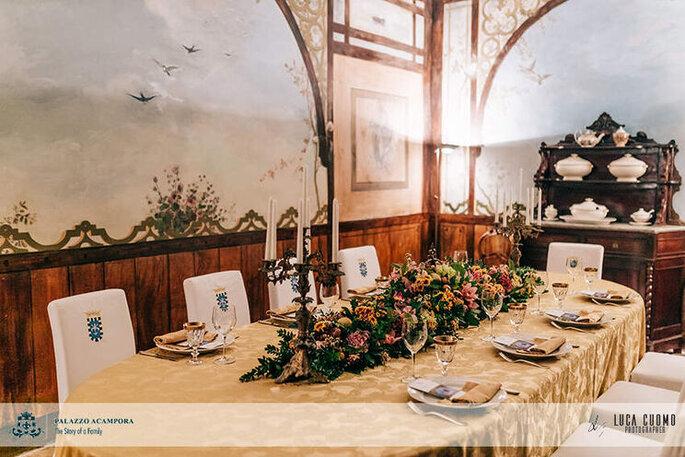 Palazzo Acampora - tavola imbandita ricevimento
