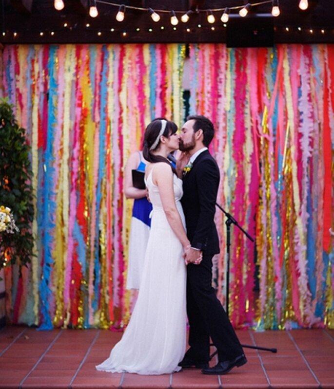 Decoración con cintas de papel y más ideas de bricolaje para tu boda
