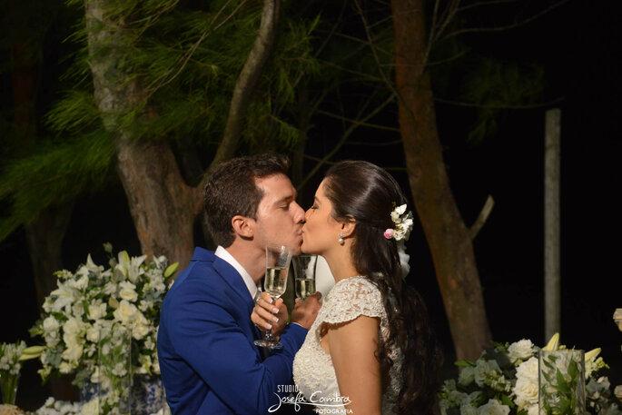 brinde noivos em casamento