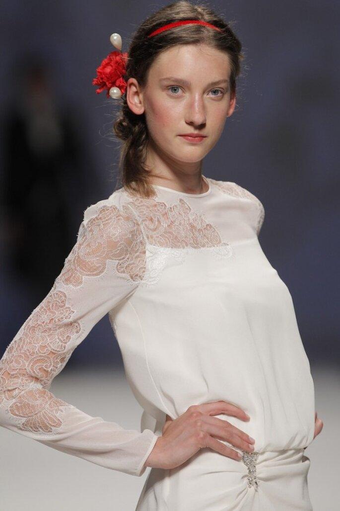 Vestidos de novia primavera 2015 con mangas largas - Foto Victorio & Lucchino
