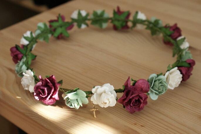 Coronas de flores para una novia hippie - Cortesía Esperanza de la Fuente