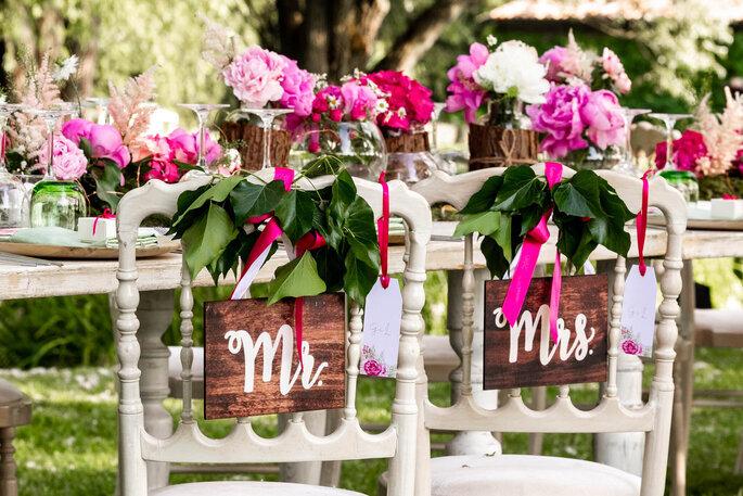 FIORISTA ERBA SILVANO - tavolo sposi decorato con fiori