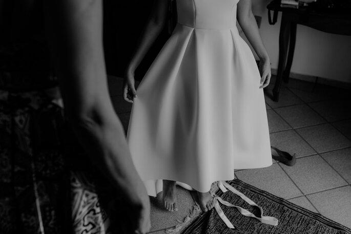 Noiva se arrumando