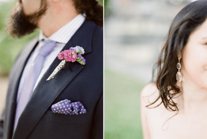 10 coloridos y originales boutonnieres para inspirar tu boda. Fotografía KT MERRY