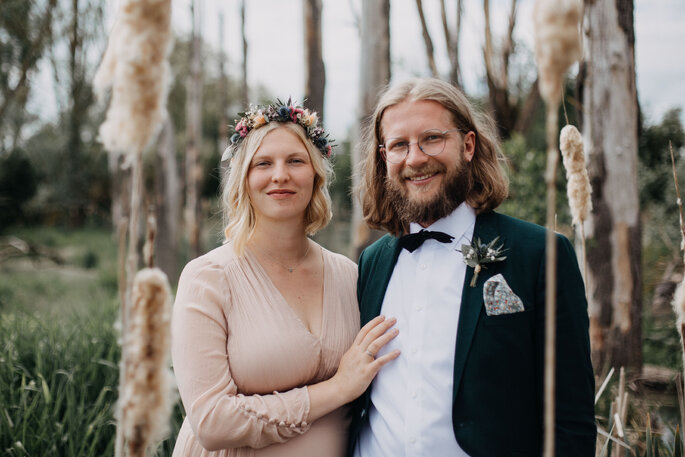 Hochzeitsfotos in einem alten Industriegelände