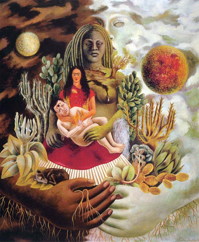 El abrazo de amor del universo, la Tierra (México), yo, Diego y el señor Xólot, Frida Khalo