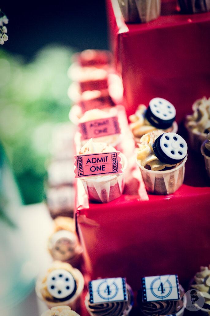 Sie sind ein Kino-Fan? Warum dann nicht ein Kino-Erlebnis für Ihre Hochzeitsgäste schaffen? Foto: Norma Grau
