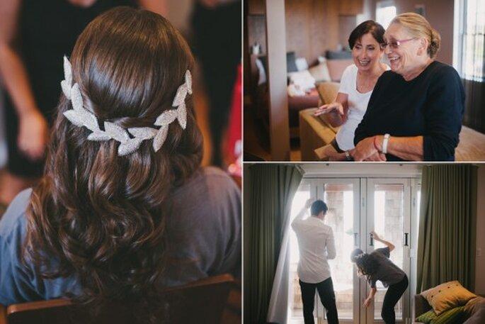Peinados para novias. Foto de Alexandra Roberts.