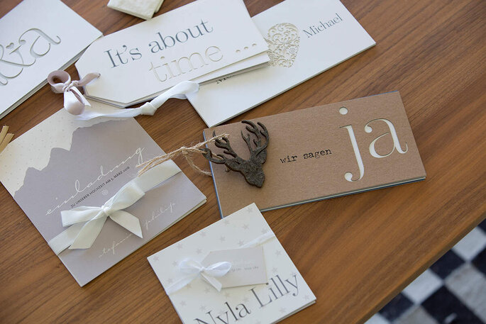 Hochzeitspapeterie tellme Einladungen