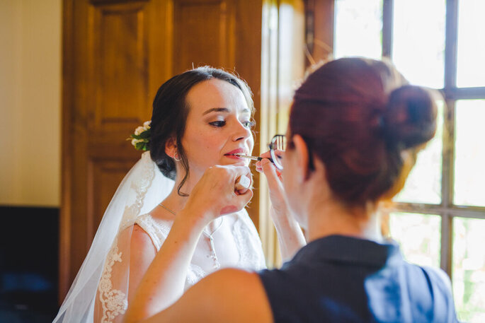 Noiva maquilhada por Joana Magalhães Make Up