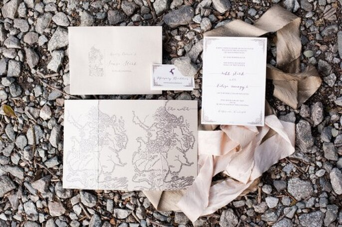 Invitaciones de boda inspiradas en Game of Thrones - Foto Candice Benjamin