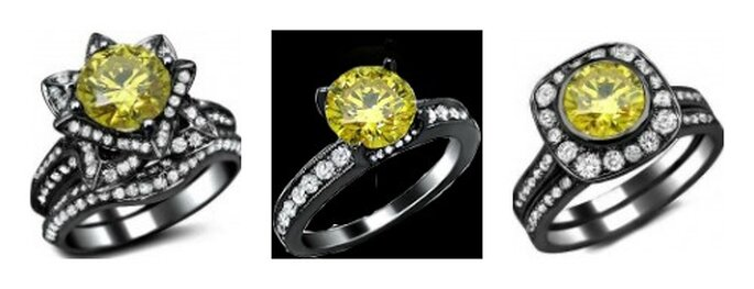 Anillos de compromiso. Foto de Front Jewelers.