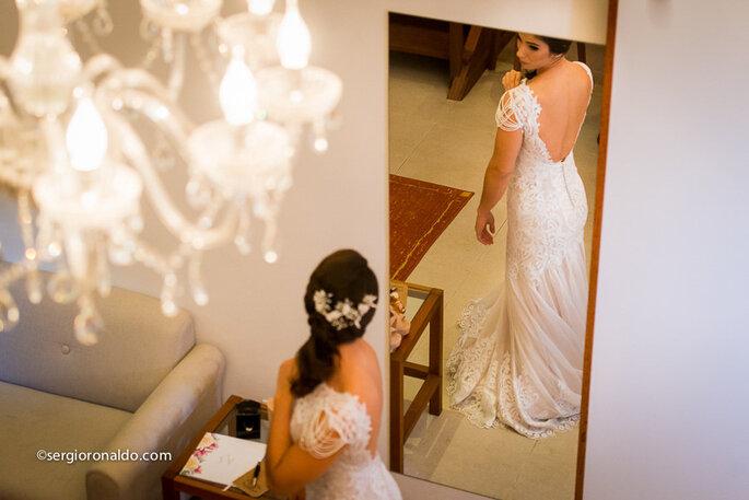 Vestido e Acessórios de cabelo: Sol Azulay