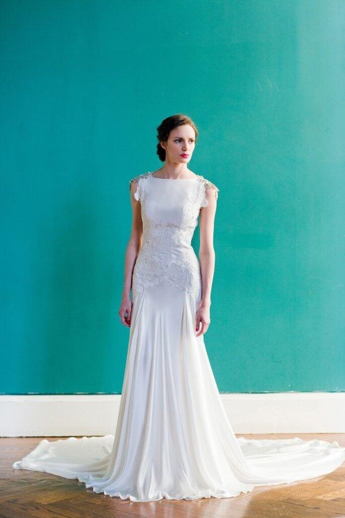 """Vestido de novia ideal para un look inspirado en """"The Great Gatsby"""" - Foto Carol Hannah"""
