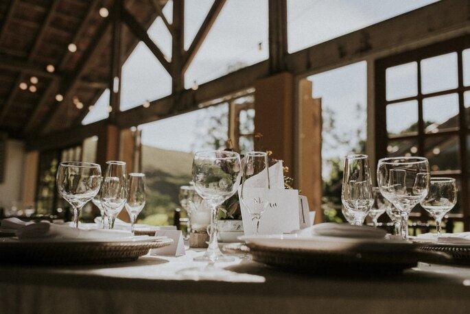 mesa de casamento rustico