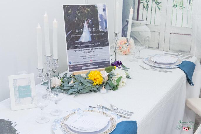 Table repas de mariage inspirations.