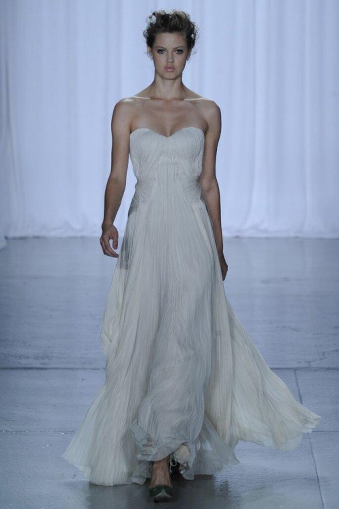 Vestido de novia inspirado en la Belle Epoque - Foto Zac Posen