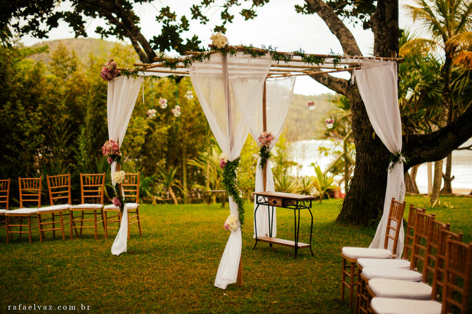 Espaço Destination wedding casamento praia São Sebastião