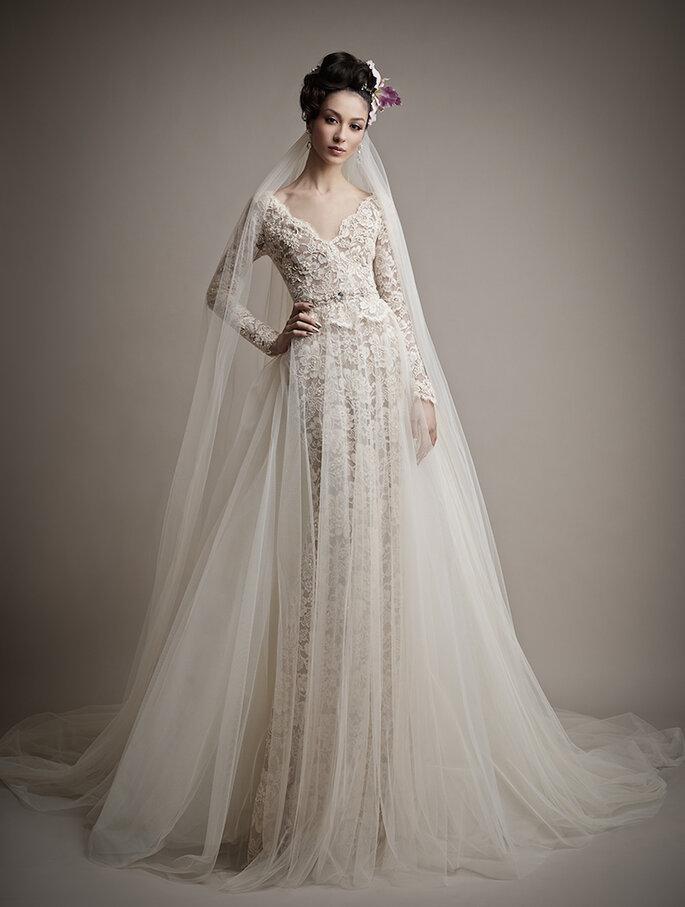 El vestido de novia ideal para chicas con poco busto - Ersa Atelier