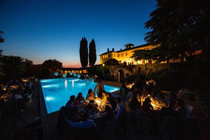 Location matrimoni Bergamo con piscina esterna