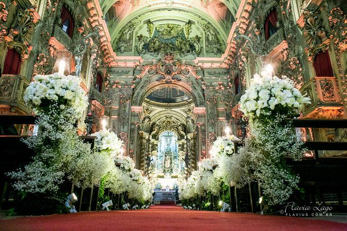 Local cerimônia: Igreja Nossa Senhora do Monte do Carmo | Foto: Flavius