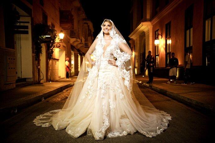 Dahian Velásquez Bridal Novia con velo