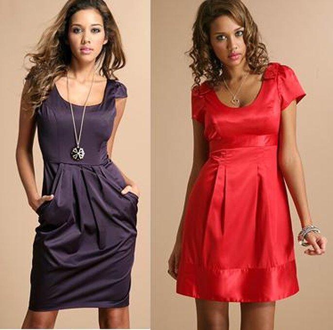 Des modèles de robe courtes colorées