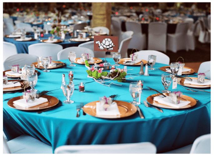Mesas redondas para el montaje de tu boda - Foto Abbey Hepner Photography