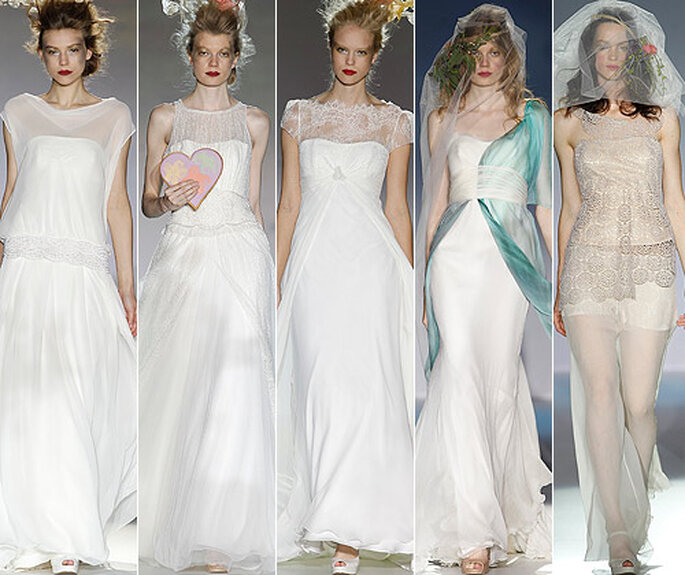 Vestidos de novia inspirados en Monet, de Raimon Bundó 2013. Foto: Barcelona Bridal Week