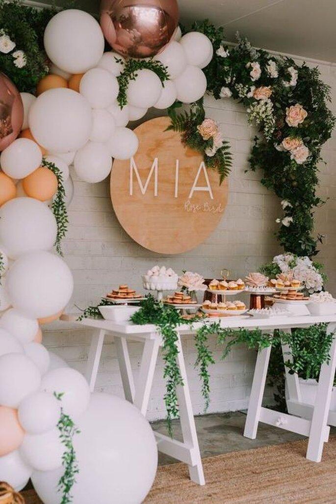 Credits: Mia's Rose Gold Garden Party, via: Pinterest