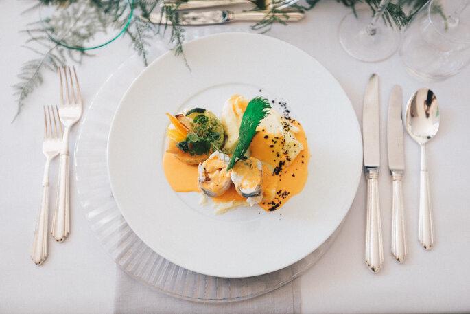 Plat gastronomique signé Délices Éphémères.
