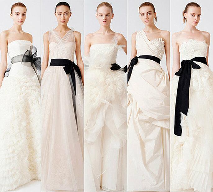 Una de las primeras en recuperar el negro para las bodas: Vera Wang, colección 2010