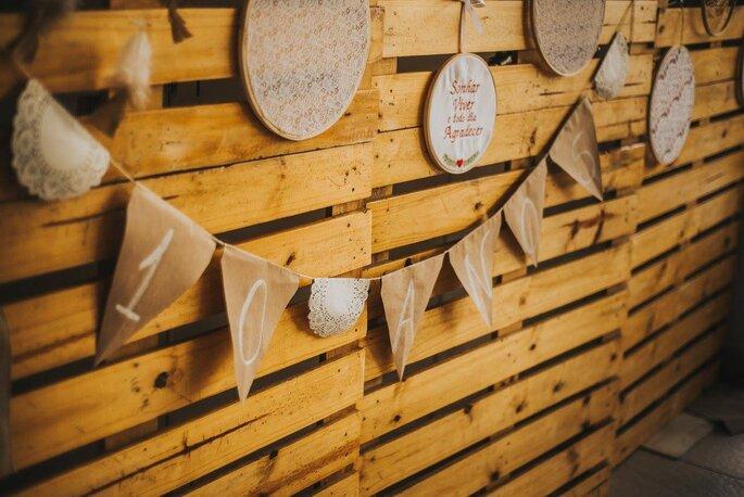 decoração com caixas de feira