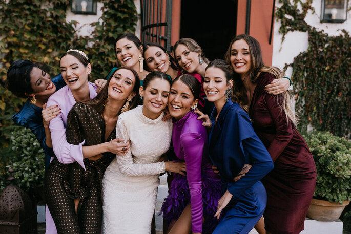 novia y sus amigas