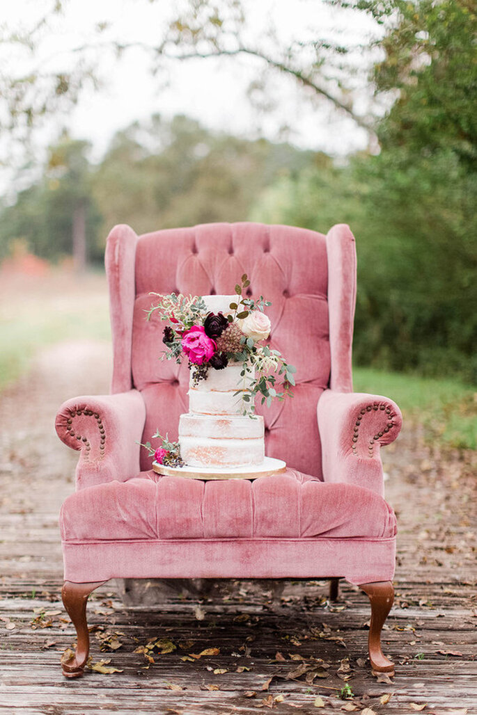 Foto Kate Elizabeth Photography. Tarta Sinfully Sweet Cake