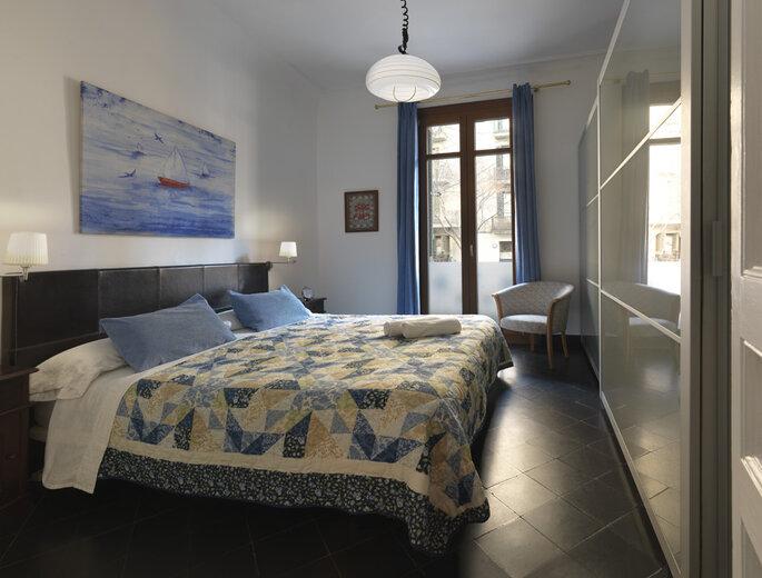 Quarto de hotel com cama no Hostel Barcelona BB, Barcelona