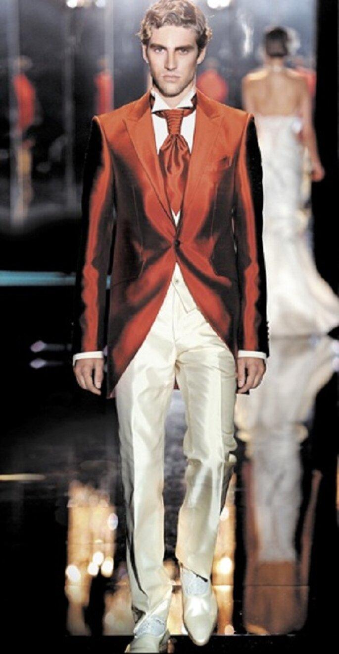 Le rouge : top mode et top chic pour les mariés de l'année. Photo: carlopignatelli.com