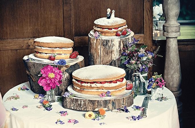 Hochzeitsdekoration mit Holz