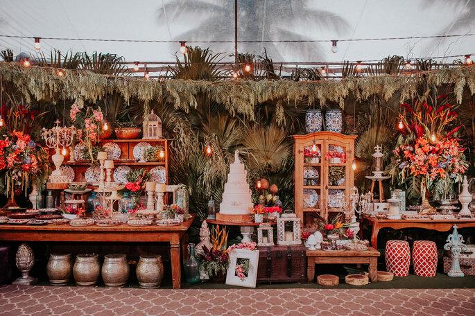 Decoração, flores, paisagismo e aluguel de mobiliário: Gisely Ferreti Decoração - Foto: Cleidimar Lopes