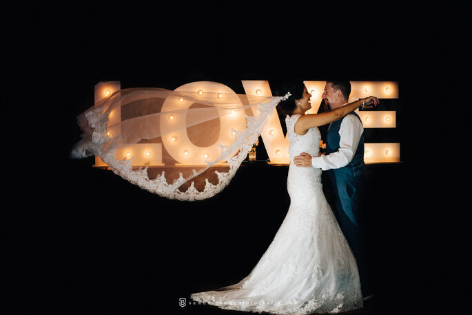 Painel luminoso para casamento