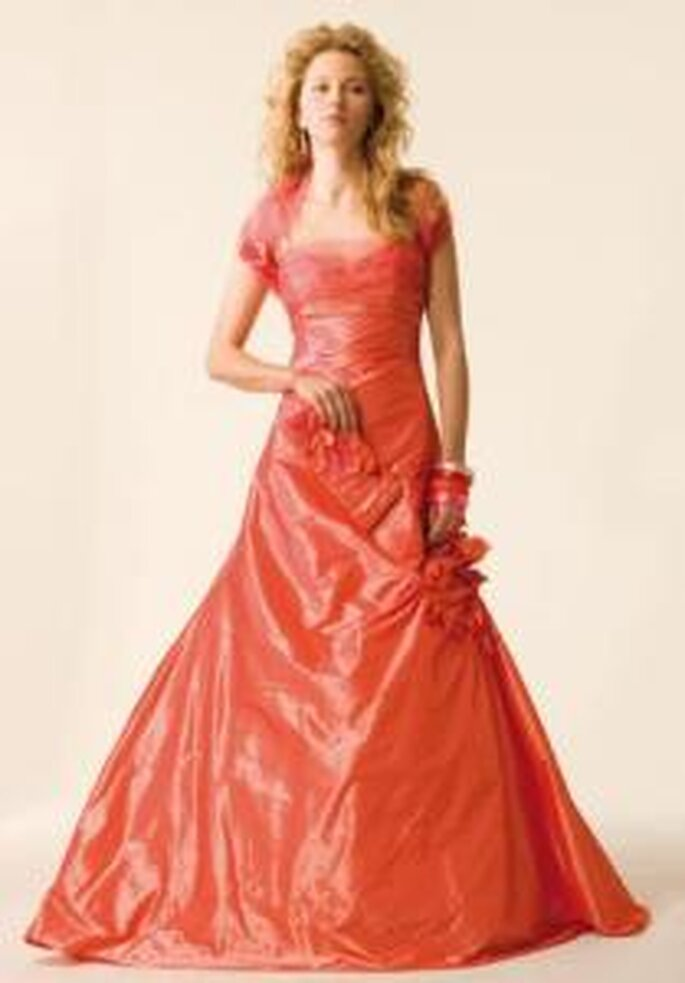 Robe longue rosé-orange - Rembo Styling 2009