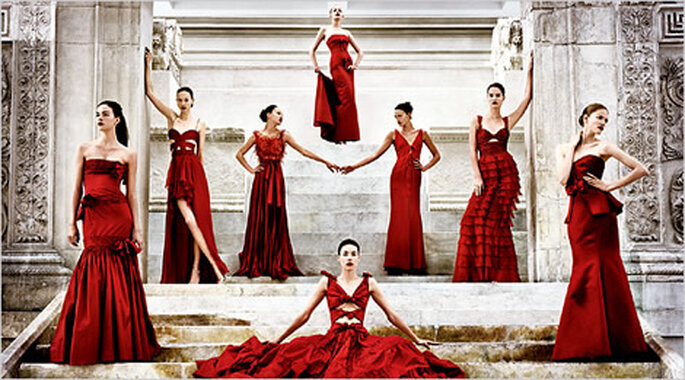 Vestidos de Noiva Vermelhos - Valentino