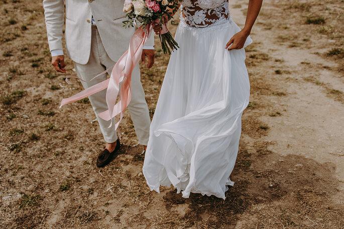 foto com vestido de noiva