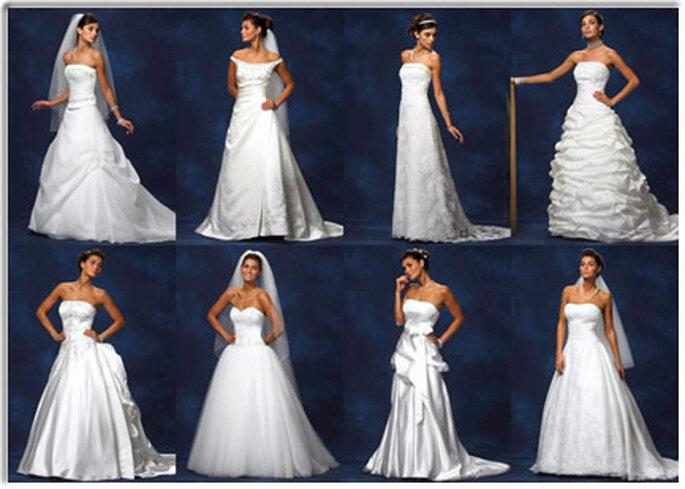 Différents modèles de robe de mariée