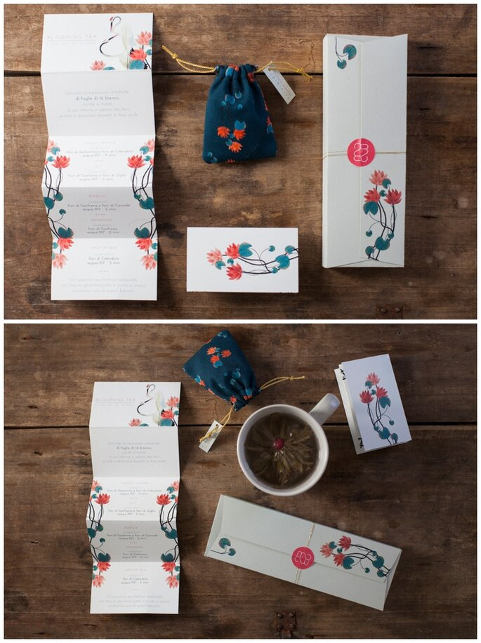 Lo stupendo cadeau handmade realizzato da Mondo Mombo in collaborazione con PQP Banqueting - Foto: Infraordinario Wedding