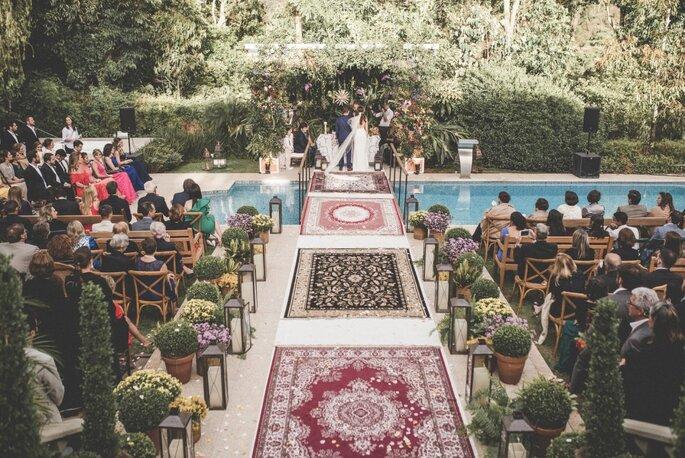 Decoração cerimônia de casamento