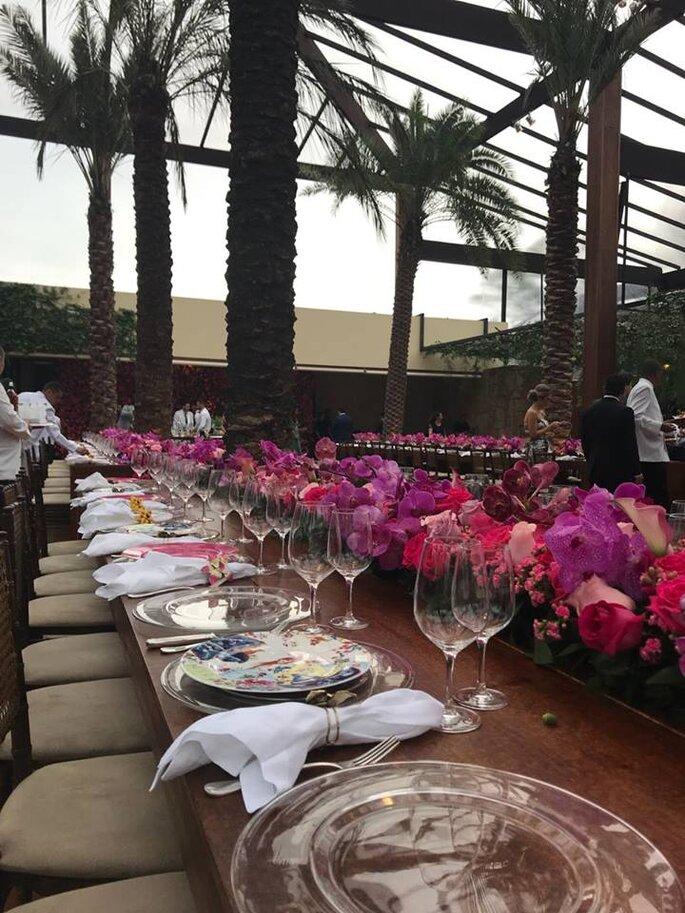 Mesa dos convidados casamento Marina Ruy Barbosa