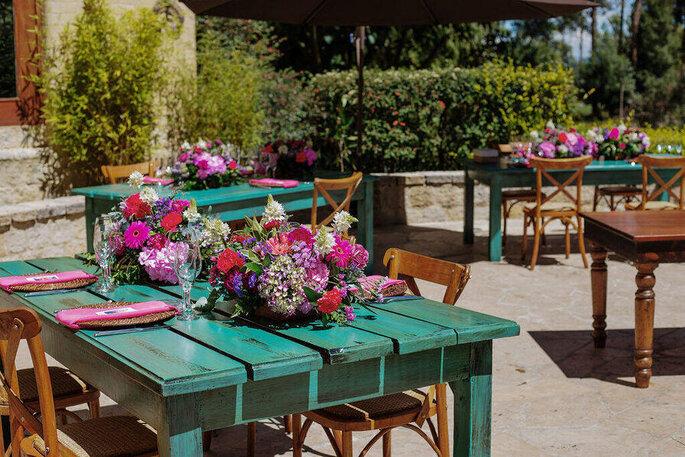 Patricia Albán Wedding & Events Planner decoración campestre
